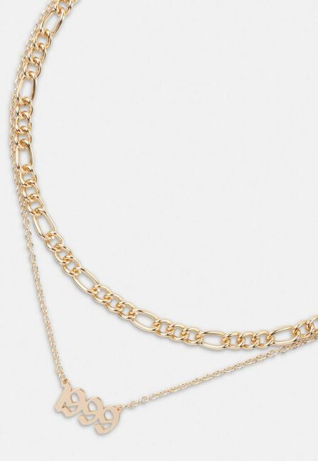 Missguided - Gold Gold Look 1999 Gothic Year Necklaces 2 Pack