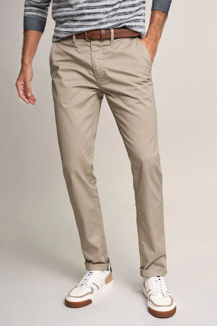 Salsa Jeans - Beige Andy slim trousers with microprint