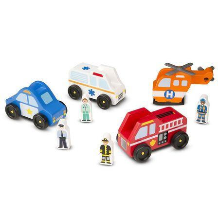 MELISSA & DOUG - Melissa & Doug Emergency Vehicle Set