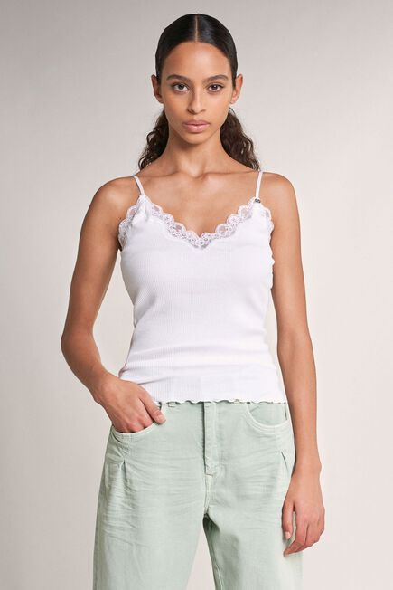 Salsa Jeans - Beige Top with lace and adjustable straps