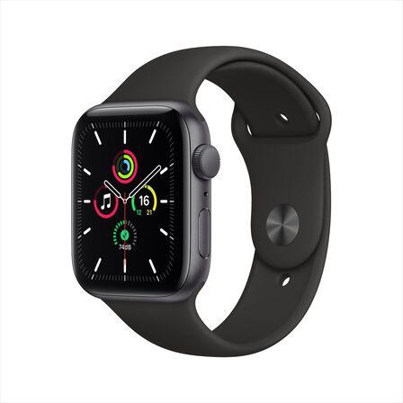 APPLE - Apple Watch SE GPS 44mm Space Grey Aluminium Case with Black Sport Band