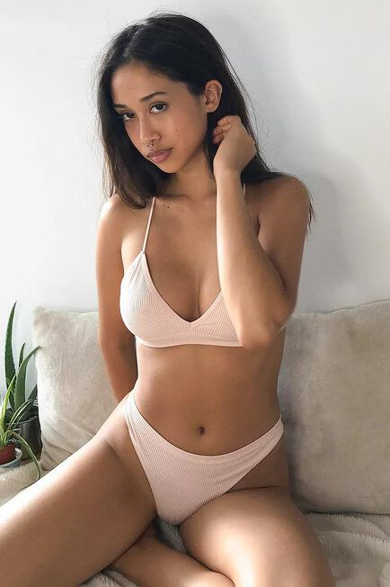 Urban Outfitters - Pink Out From Under Cindy Solid Thong