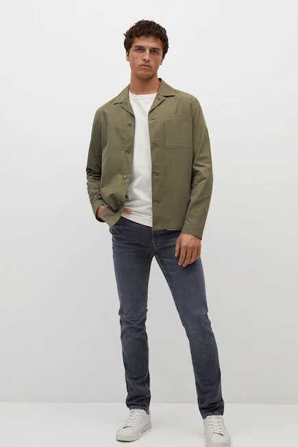 Mango - open grey Slim fit Ultra Soft Touch Patrick jeans, Men