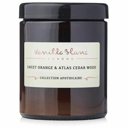 VANILLA BLANC - Vanilla Blanc Organic Coconut Candle Sweet Orange & Atlas Cedarwood 120 ml