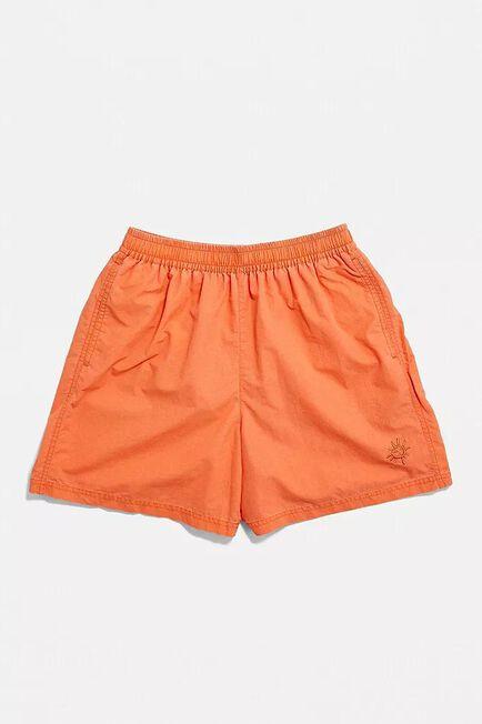 Urban Outfitters - Orange UO Nomad Tangerine Swim Shorts, Men