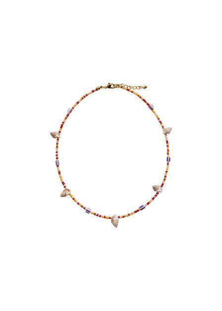 Mango - yellow Shells bead necklace, Kids Girl