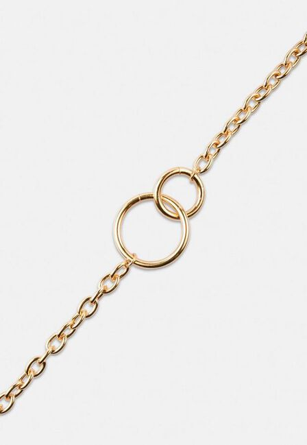 Missguided - Gold Look Duo Link Chain Necklace, Women