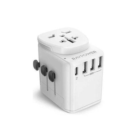 RAVPOWER - Ravpower 3 USB 30W White Universal Travel Adapter