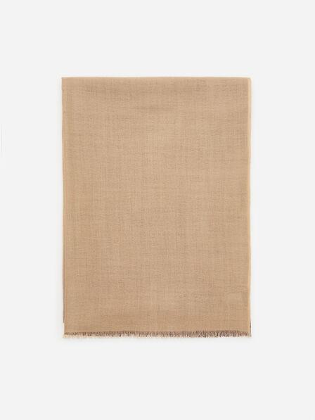 Reserved - Ladies' Reversible Wool Scarf - Brown