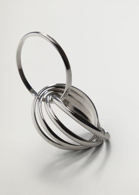 Mango - Silver Crossover Ring