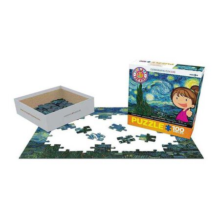 EUROGRAPHICS - Eurographics Starry Night By Vincent Van Gogh 100Pcs Kids Puzzle