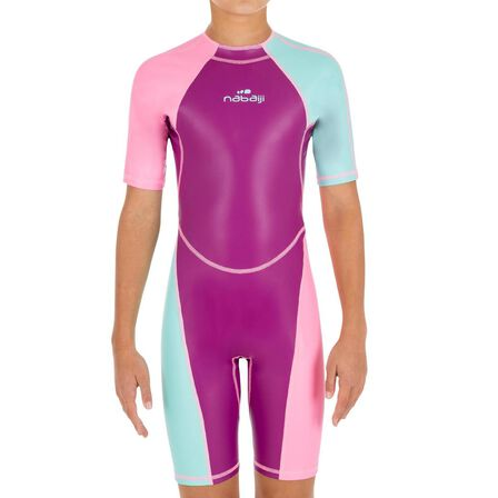 NABAIJI - 8-9Y  Kloupi Girls' Swim Shorty - Purple Pink, Purple