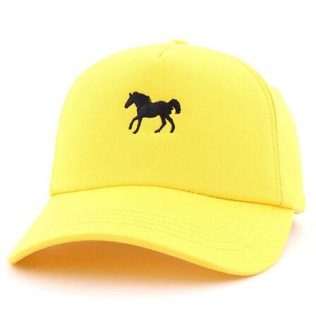 B180 CAPS - B180 Horse 5 Unisex Cap Yellow