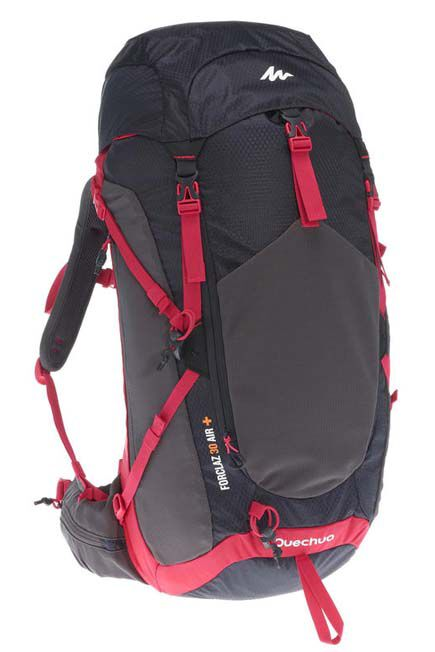 QUECHUA - MH500 Women's 30L Mountain Hiking Backpack - Black/Pink, 30L