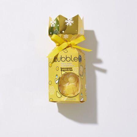 BUBBLE T - Bubble T Cracking Bath Lemongrass, Green Tea 150 g Bath Fizzer and 30 g Bath Confetti [1 pc each]