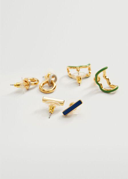Mango - Gold Mixed Bead Earrings, Women