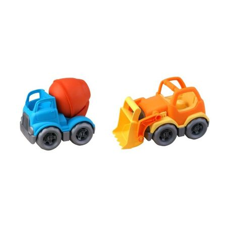 ROLL UP KIDS - Roll Up Kids Eco Friendly Cartoon Car Double Pack Bricks Vehicle