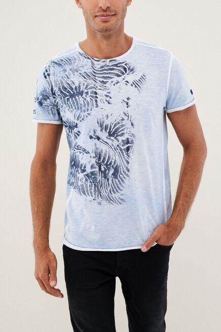 Salsa Jeans - Light Grey Graphic Round Neck T-Shirt