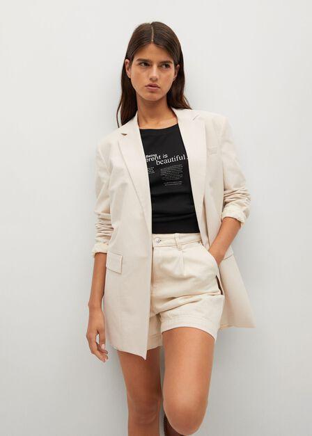Mango - Black Boats Printed Cotton T-Shirt, Women