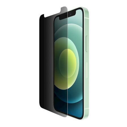 BELKIN - Belkin Screenforce Tempered Glass Privacy Screen Protector for iPhone 12 Mini