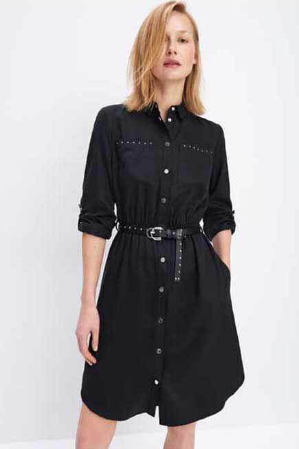 Mohito -  Shirt Dress With Belt Eco Aware - Black