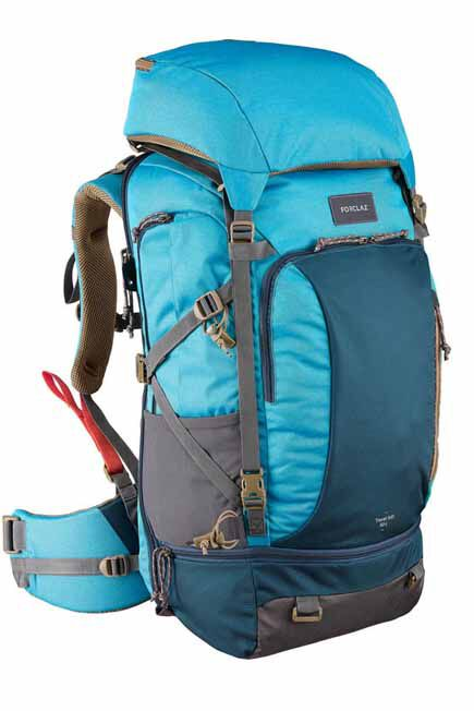 FORCLAZ - Travel 500 Women's Trekking 50L Backpack with Padlock - Blue, Adult