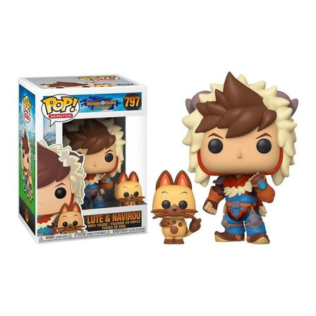 FUNKO TOYS - Funko Pop & Buddy Monster Hunter Lute with Navirou Vinyl Figure