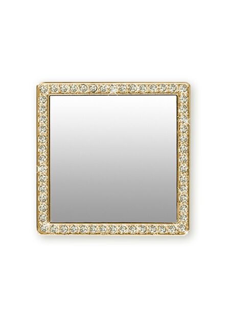 iDecoz - iDecoz Gold Square with Crystals' Mirror for Smartphones