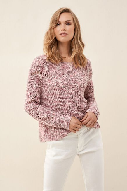 Salsa Jeans - Pink Knitted sweater with detail