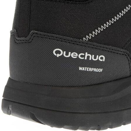 QUECHUA - Sh100 man black high hiking snow boots.