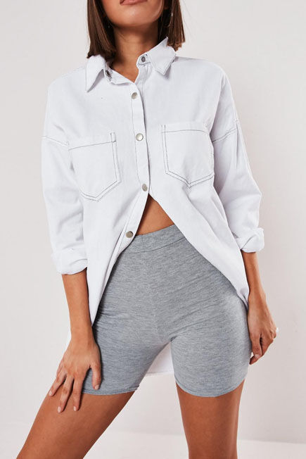 Missguided - Grey Cycling Shorts