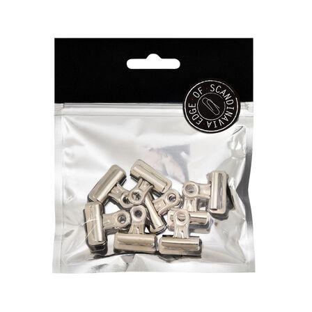 BNT STATIONERY - BNT 25mm Edge Bulldog Binder Clip Silver [8 Pack]