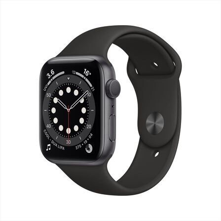 APPLE - Apple Watch Series 6 GPS 40mm Space Grey Aluminium Case with Black Sport Band