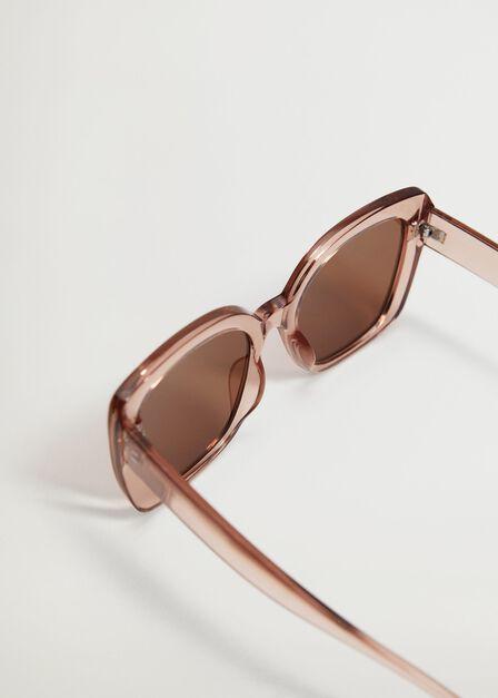 Mango - lt-pastel pink Clear frame sunglasses, Women