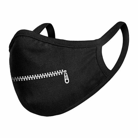 MISTER TEE - Mister Tee Youth Zipper Face Mask Black Osfa