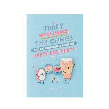MR. WONDERFUL - Birthday Today We'Ll Dance the Conga Birthday Card