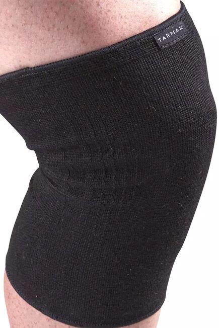 TARMAK - Soft 100 Men's/Women's Right/Left Compression Knee Support - Black, 2