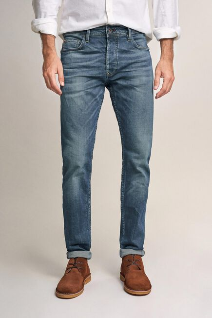 Salsa Jeans - Blue Lima tapered jeans with wear