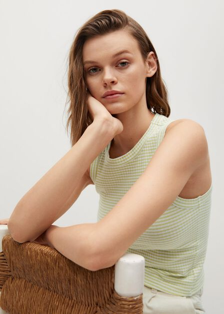 Mango - green Recycled polyester top, Women