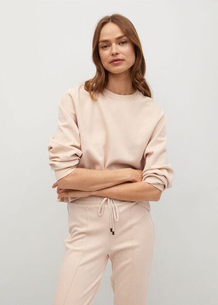 Mango - lt pastel brown Drawstring jogger trousers