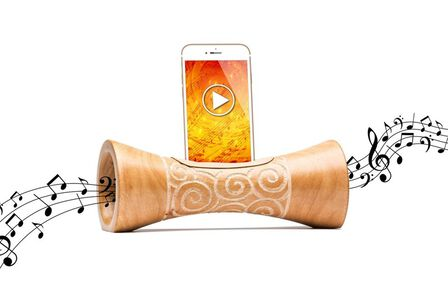 MANGOBEAT - Mangobeat Natural Speaker for Smartphones Zebra [25 cm]
