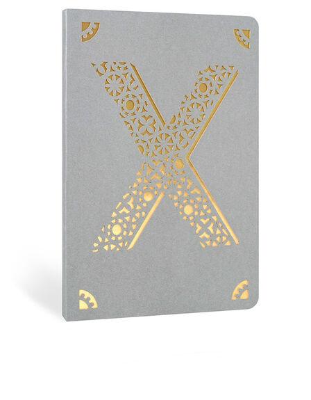 PORTICO DESIGN LTD - Portico Design X Monogram Gray A6 Notebook