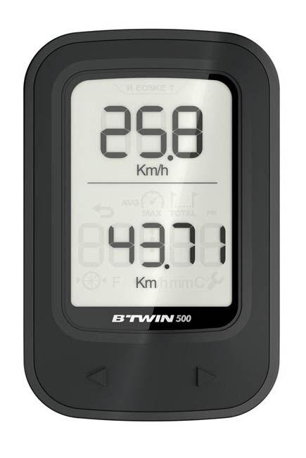 VAN RYSEL - 500 wireless cyclometer - black, Unique Size