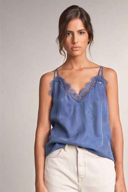 Salsa Jeans - Blue Top with lace