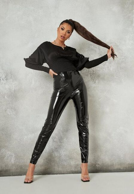 Missguided - Black Shirred Blouse
