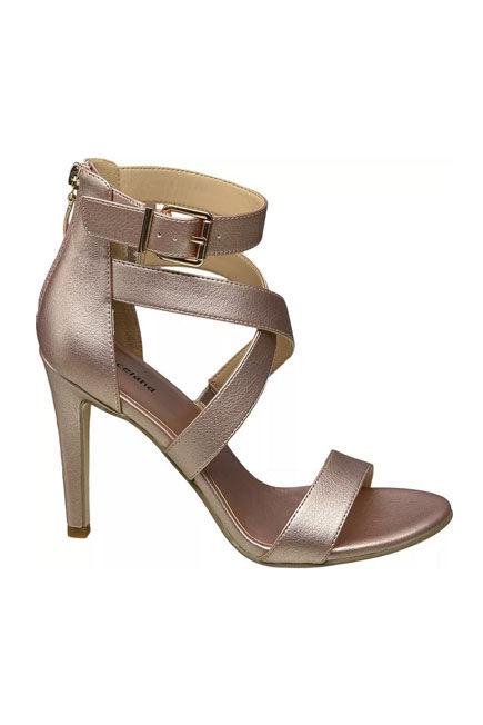 Graceland - Rose Gold Strapped Sandals, Women