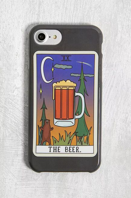 Urban Outfitters - Black The Beer Tarot Card IPhone 6/6S/7/8 Case