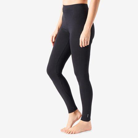 NYAMBA - W26 L30  Fit+ 500 Women's Slim-Fit Stretching Leggings AOP, Black
