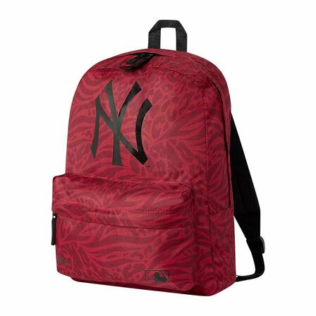 NEW ERA - New Era mlB Print Stadium Pack NY Yankees Backpack Front Door Red