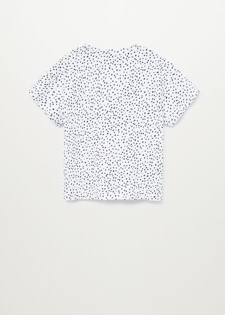 Mango - natural white Printed message T-shirt